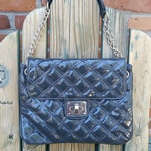 Lacquered Quilted Shoulder Bag Crossbody